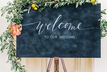WEDDING SIGNAGE / Wedding signs, wedding signage, how to make wedding signs, wedding signs ideas, wedding sign inspiration, DIY wedding signs, pallet wood wedding sign, modern wedding signs, wedding sign with greenery, rustic wedding sign, simple wedding signs, Boho wedding sign, acrylic wedding signs, calligraphy wedding signs