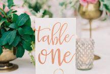 TABLE NUMBERS / Wedding table numbers, table number ideas, DIY table numbers, chic table numbers, make your own table numbers, gold table numbers, printable table numbers, unique table numbers