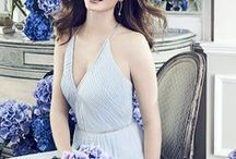 """Jenny Packham Bridesmaids Collection / Launching in stores worldwide on January 2nd, 2018, Jenny Packham Bridesmaids comprises of 9 styles, available for special order in a wide range of sizes and colors. This exclusive line is only available through Dessy Group. From Jenny Packham: """"I have always aspired to create beautiful pieces for a special occasion but with bridal, the challenge is to create something really special – it's got to have that extra magic that makes the bride fall in love with it."""""""