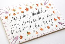 Calligraphy/Lettering / invitations, calligraphy, packaging, gift wrap... i'm obsessed. / by allison wheeler / wanderlings