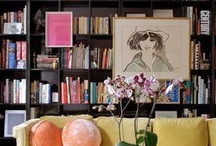reading room, book room / creating a space for books and reading