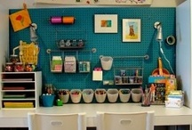 craft room/work space / an organized craft room/sewing room and work space