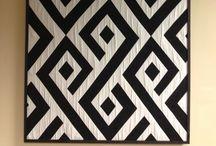 Quilting - patterns: black & white