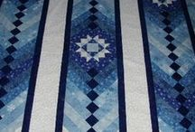 Quilting - patterns: blues