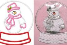 Embroidery - snowman