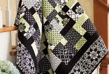 Quilting - patterns: greens & yellows