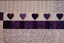 Quilting - patterns: purples