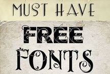 Embroidery - fonts