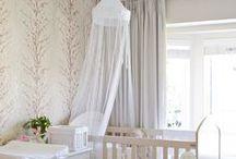 Nursery Decor Ideas / Cute semi-girly stuff for the bebe's room!