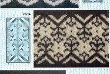 Stitches, Charts, and Swatches / Schematics for color, cable, or lace patterns, and pictures of what they look like knitted up / by R. Stephen Gracey