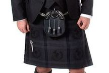 Grey Thistle Tartan / A contemporary kilt outfit to hire or buy.