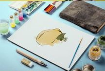 KIŞ MEYVELERİ İLLUSTRASYONLARI  (WINTER FRUIT ILLUSTRATIONS) / Winter fruits watercolor illustrations. Kış meyveleri sulu boya illustrasyonları.