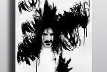 LEGENDS OF ROCK (Frank Zappa , Slash , Marilyn Manson , Jim Morrison Illustrations) / LEGENDS OF ROCK'ta rock müziğin efsane isimleri bir araya geldi. Frank Zappa , Slash , Marilyn Manson , Jim Morrison İllustrasyonları