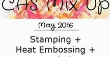 "CAS Mix Up May 2016 Challenge / Heat Embossing is this month's challenge. Two other elements are required:  Stamping + ""your choice"" (pick from a list of options on the challenge sidebar)"