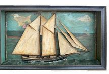 Nautical Antiques - Scrimshaw, Sea Chests, Boxes, Dioramas, Nantucket Baskets, Sailor's Valentines. / See my other boards: Scrimshaw and Whales & American Whaling.  / by Lynne Kossarek