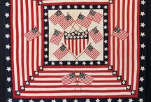 Antique Quilts - Patriotic / Red, White and Blue