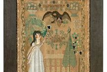 Early Samplers- Exceptional Examples / Exceptional Samplers, Canvas work &Embroideries. Folk Art with Needle and Thread