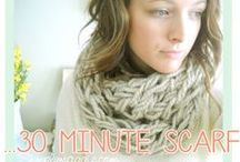 DIY: Knitting / Arm Knitting is one of the easiest and quickest ways to make a scarf. here are some great video tutorials and yarn to get you started! #ArmKnitting #Knitting