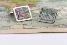 Maps and other crafts / We make other things too featuring vintage maps, leather and prints.
