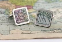 Vintage Maps / We hand make many items using vintage maps. You can personalise yours with your own chosen location.