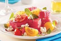 Melon d'eau et cantaloup / Intégrez fraîcheur et couleur dans l'assiette avec le melon d'eau et le cantaloup!