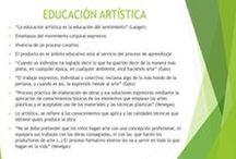 EDUCACIÓN ARTÍSTICA Y ESTÉTICA / Sobre la diferencia entre educación artística y educación estética, aunque complementarias entre si.