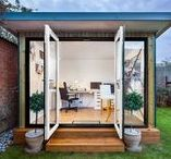 Garden Home Office Ideas / Home Office in the Garden... A modern alternative to a traditional home office, giving you the extra privacy being away from home to focus. Be inspired by our garden office ideas by Garden Studio.