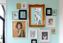 Gallery Walls / Inspiration to create a fabulous gallery wall.