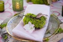 Table decorations / Inspiring ideas for your wedding tables
