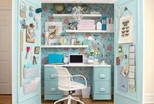 Craft Rooms :::: Organization / Beautiful craft rooms inspiration and organization, to help you keep the creativity flowing!