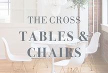 The Cross Tables & Chairs / #table #chair #tables #chairs #diningroom #breakfastnook #marble #wood #home #design #decor #interiordesign #house