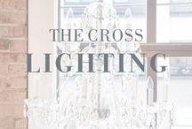 The Cross Lighting / #light #lighting #home #design #decor #chandelier #floorlamp #tablelamp #beaded #gold #lampshade #house #interiordesign