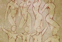 Drawing female anatomy / Female anatomy.