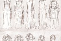 Drawing clothes / Clothes, fabric and accessories