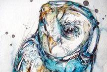 Art Owls / by Robin Panzer Art