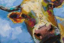 Art Bovine / Cows YAY / by Robin Panzer Art