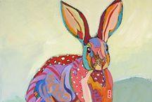 Art - Rabbits / Rabbits and Bunnies in art / by Robin Panzer Art