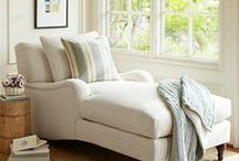 'Chaising' Comfort / There is just something about a comfortable, upholstered, soft as a cloud chaise