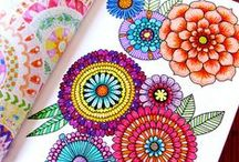 Mandalas / I'm more of a doodler than good at any one thing, mandalas might be just the thing for me, and it kind of reminds me of Crazy Quilting just a little bit. In other words, pretty!