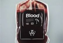 the blood and wound.