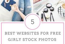 Stock Photos for Bloggers / A directory of where you can get free and paid quality stock photos for your blog, website, branding etc. Also on how to use them and optimize to they match your branding.