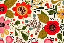 Pattern Love - Graphic Florals / Repeat patterns with a floral theme, more graphic in nature
