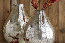 Silver Mercury Vases / by Sylvia Estevez