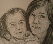 """Graphite Drawing / """"Edges are the borderlines between light and shadows."""""""