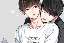 Vkook fan arts