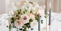 Wedding Floral + Centerpieces / Gorgeous wedding flowers and centerpieces with a focus on romantic + feminine wedding style.  I love lush flowers, peonies, lots of textures, and flower arrangements with movement and flow.