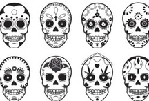 Dia de los Muertos  / I love love love Dia de los Muertos and sugar skulls.  These are mainly for doll face ideas. / by Sarah Thompson McWilliams