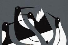 Bird Board / Birdish art. In Memoriam J O'N