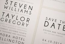Modern wedding invitations / Modern and beautiful invitations for industrial wedding
