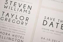 Modern wedding invitations / Modern and beautiful invitations for industrial wedding